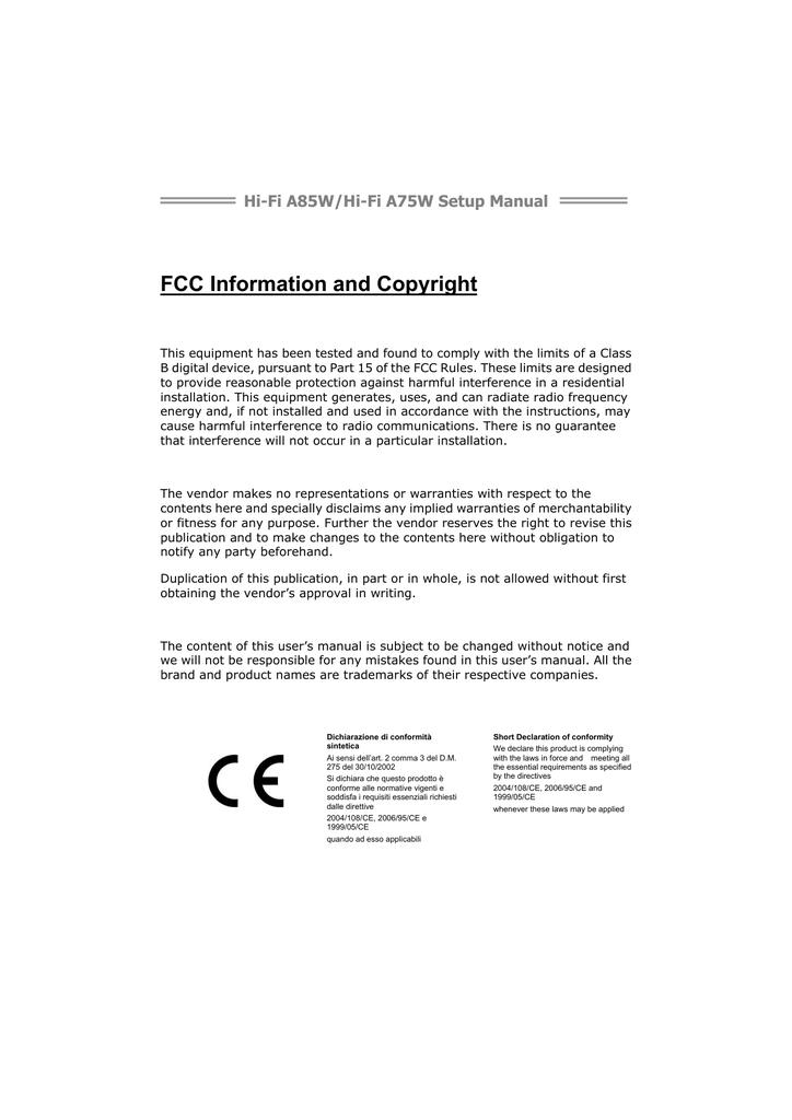 BIOSTAR HI-FI A75W DRIVERS PC