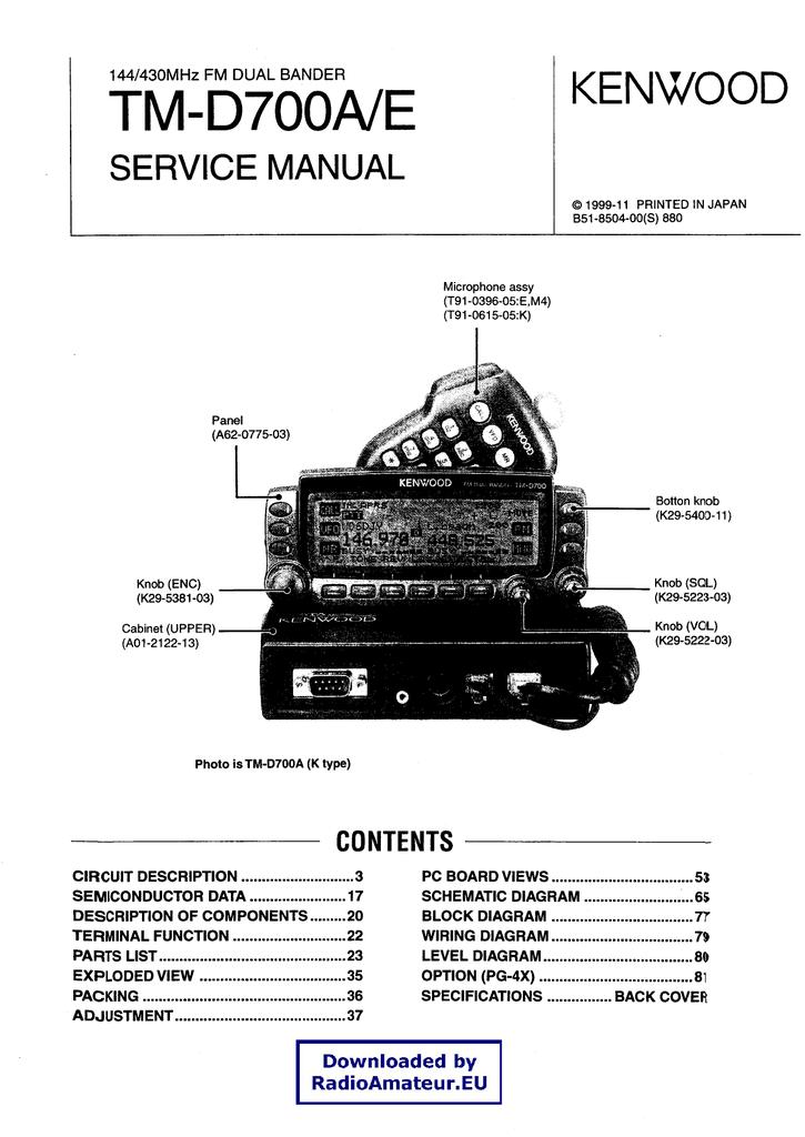 Kenwood TM-D700 service manual | manualzz com