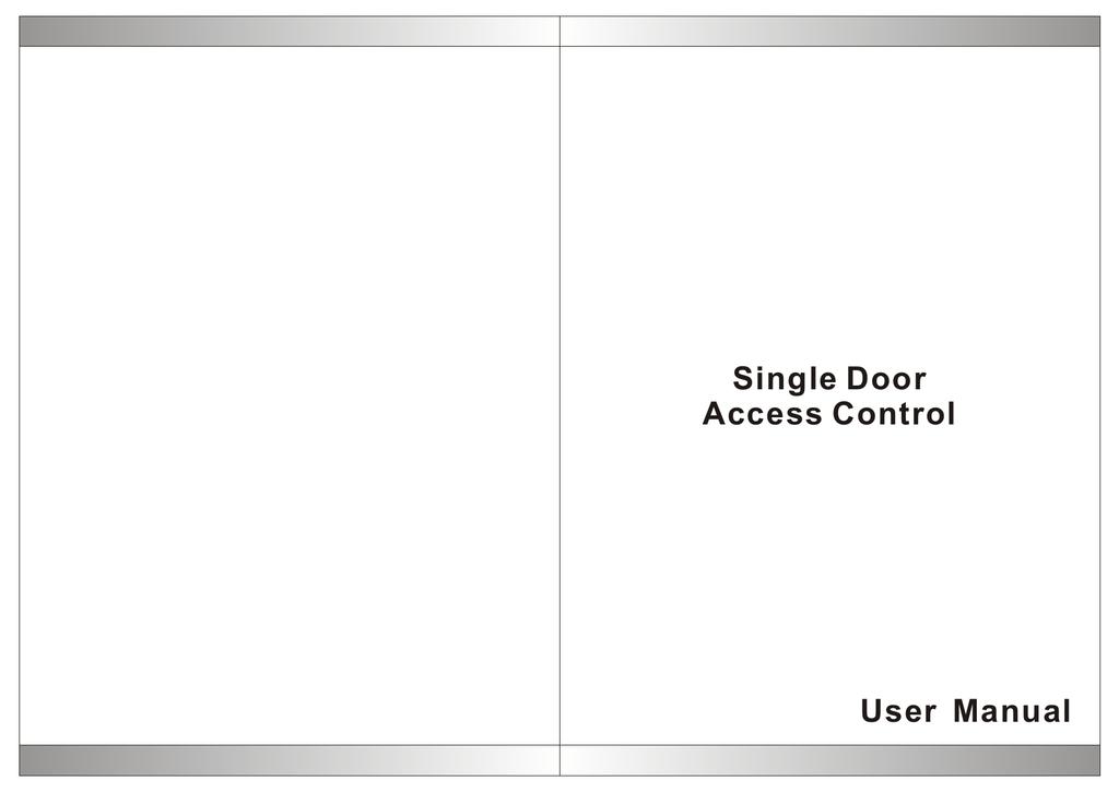User Manual Single Door Access Control | manualzz com