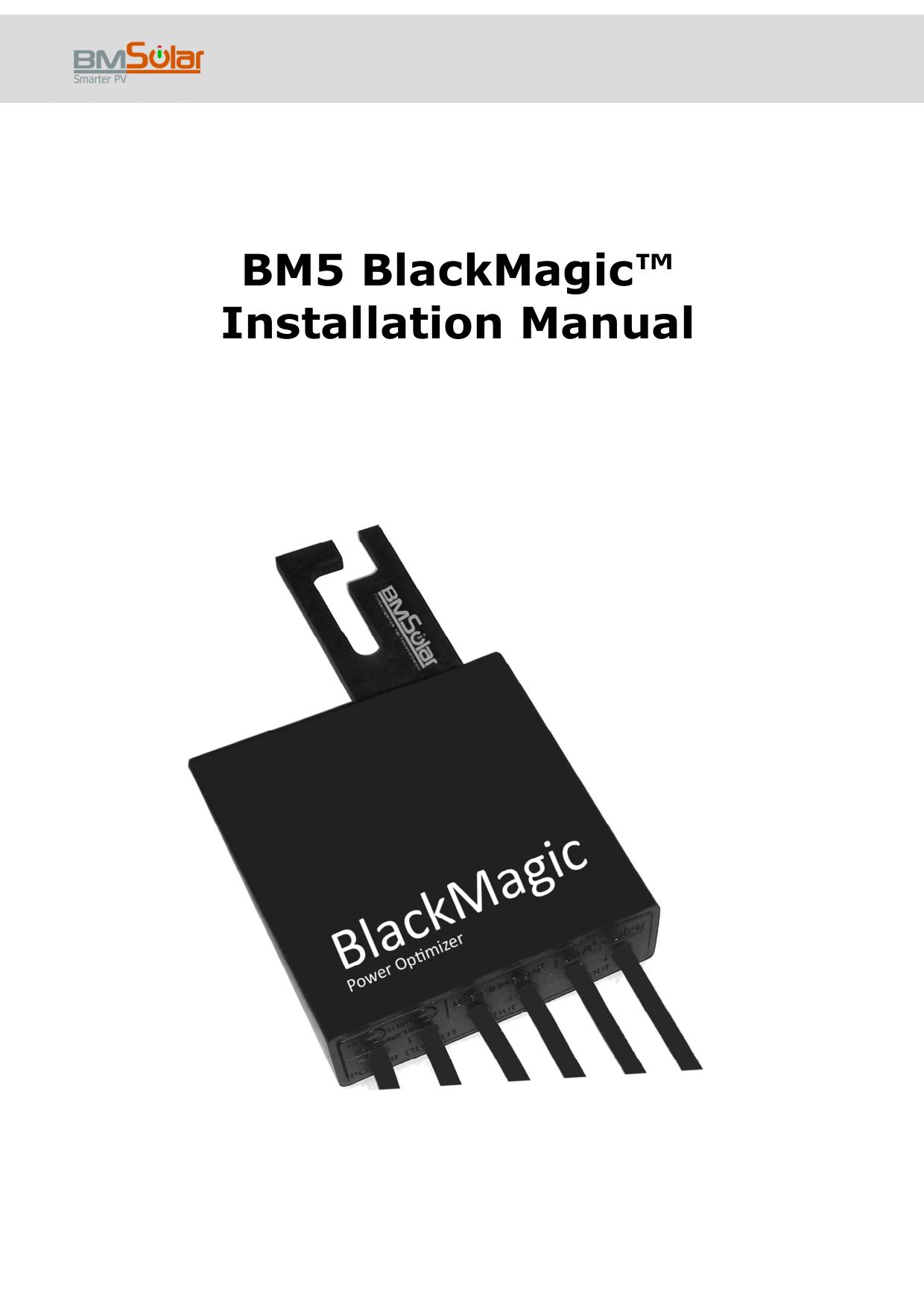 BM5 BlackMagic™ Installation Manual | manualzz com