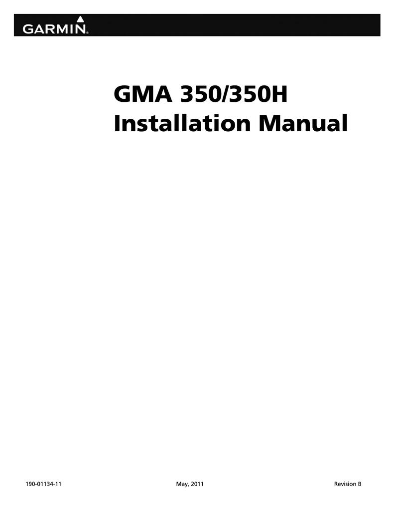 GMA 350/350H Installation Manual | manualzz.com on