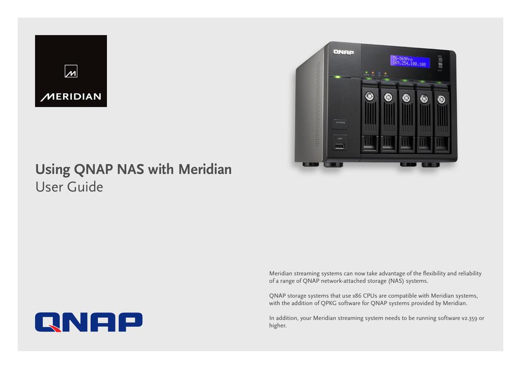 Using QNAP NAS with Meridian User Guide | manualzz com