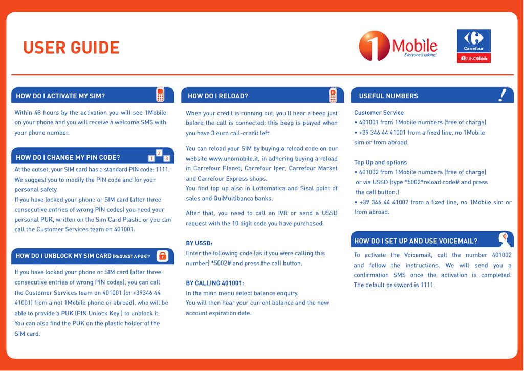 USER GUIDE - Uno Mobile | manualzz com
