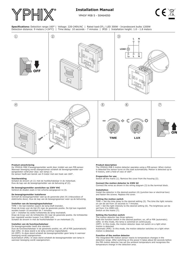 schema drie bewegingsmelders