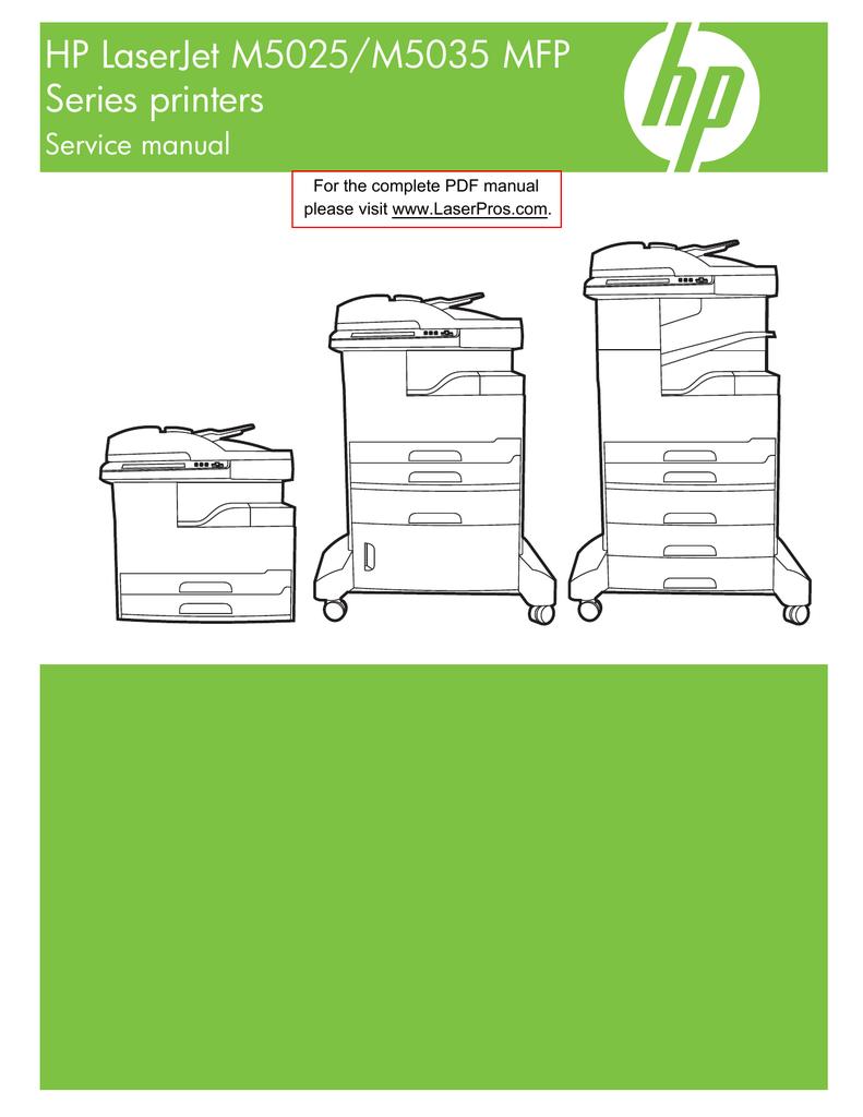 Mnl 7792 Hp Laserjet M5025 M5035 Series Mfp Service Parts Manual Printer Diagram Manualzzcom