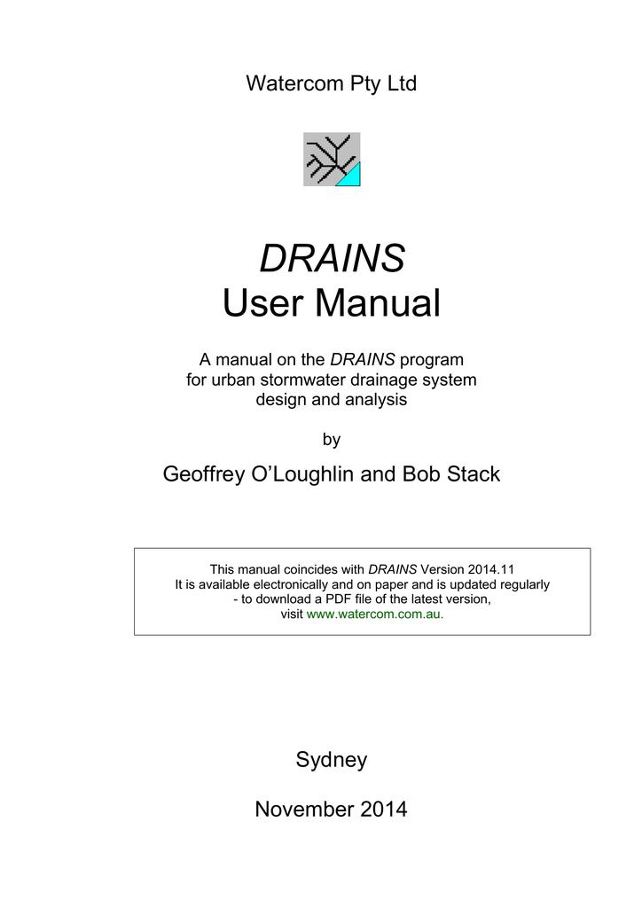 DRAINS User Manual | manualzz com