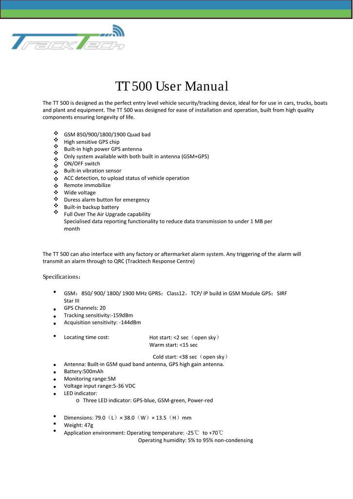 TT 500 User Manual | manualzz com