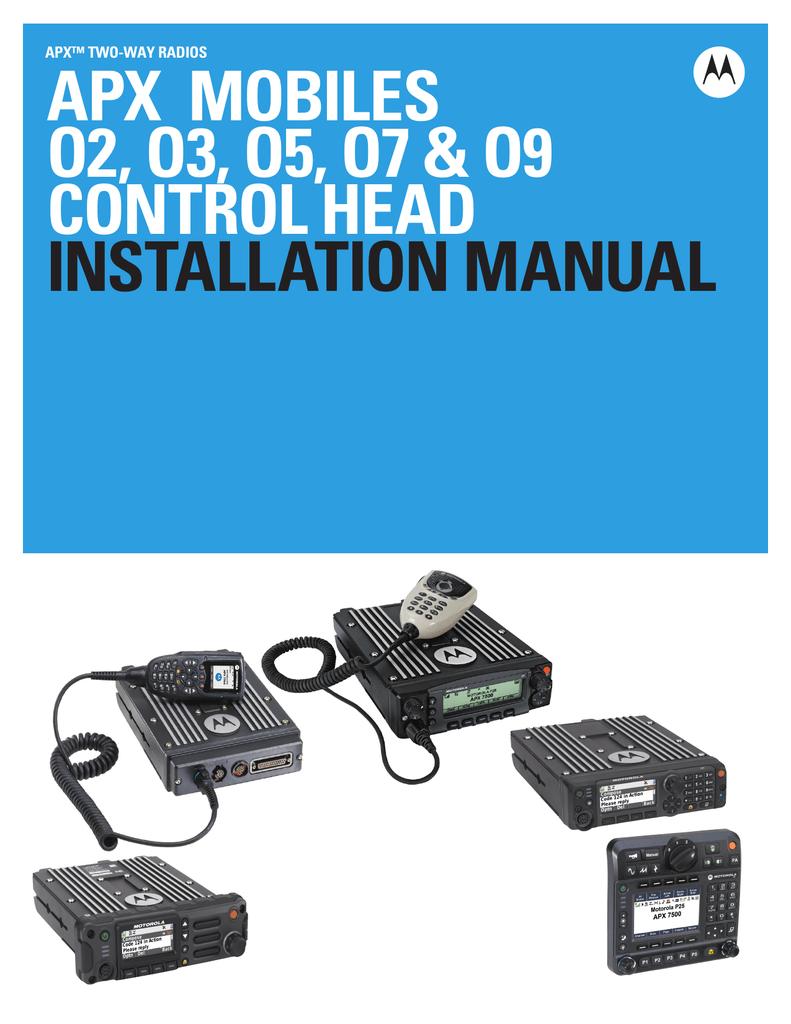 APX Mobile O2, O3, O5, O7 & O9 Control Head Installation Manual |  manualzz.com