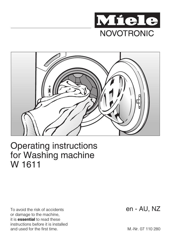 Miele tumble dryer manual