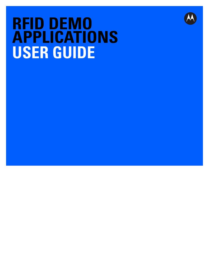 RFID Demo Applications User Guide, p/n 72E-160038 | manualzz com