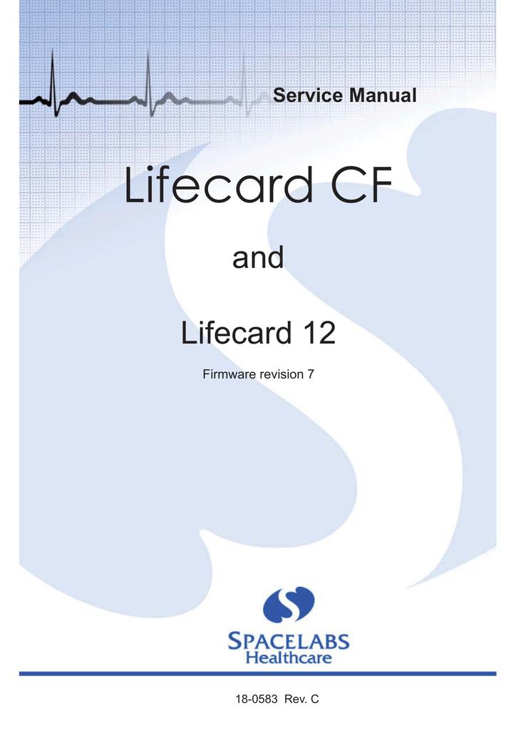 18 0583 lifecard cf service manual rev c manualzz com rh manualzz com lifecard cf monitor user manual 22LR Life Card