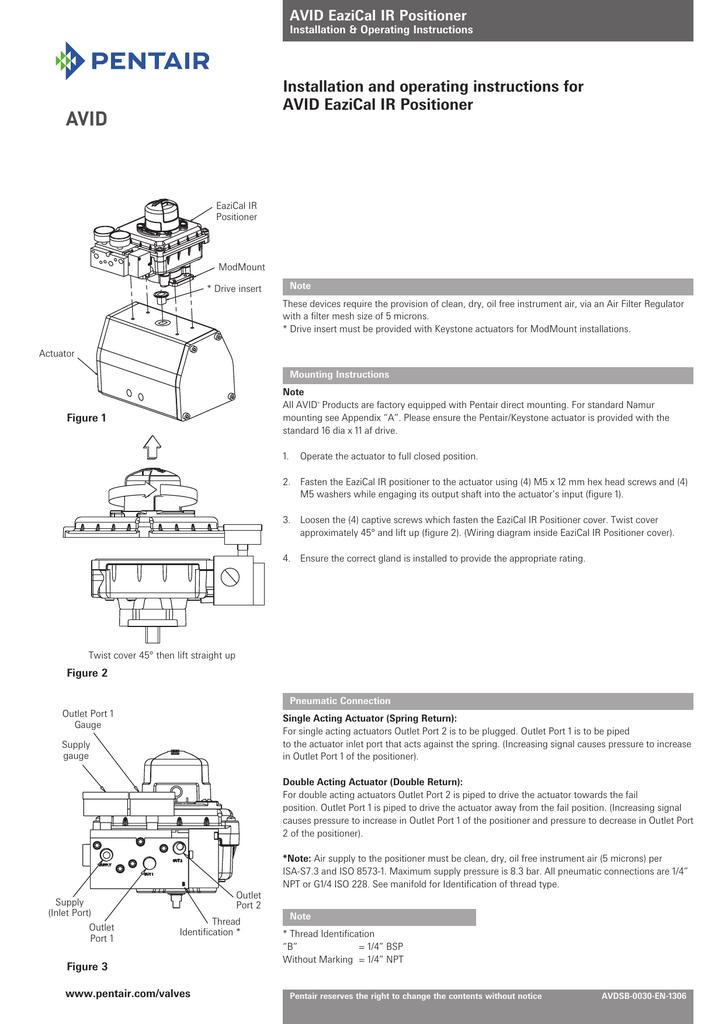 installation and operating instructions for avid eazical ir positioner |  manualzz com