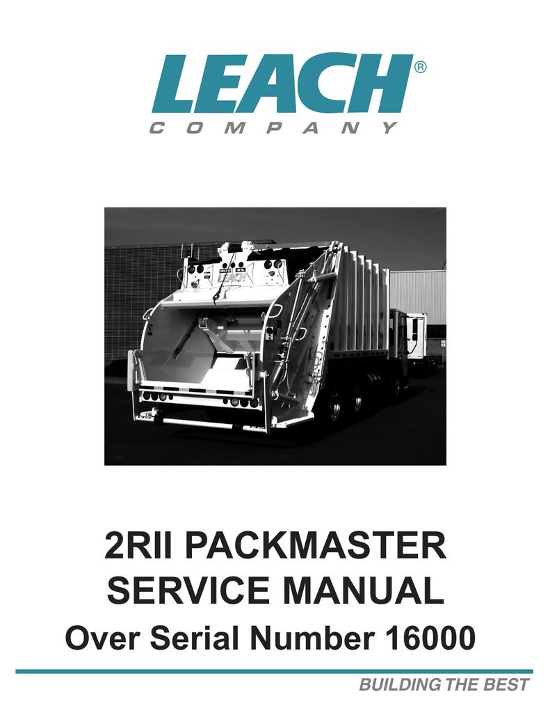 New 2RII Service manual - Superior Truck Equipment Inc. | manualzz.com