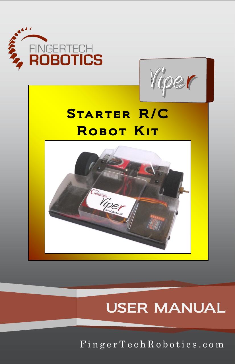 USER MANUAL - FingerTech Robotics | manualzz com