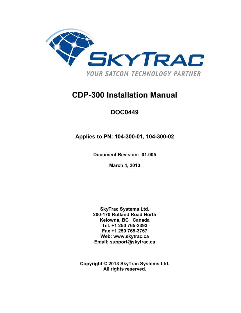 Cdp 300 Installation Manual Diagram Wire Sensor 2 Snow