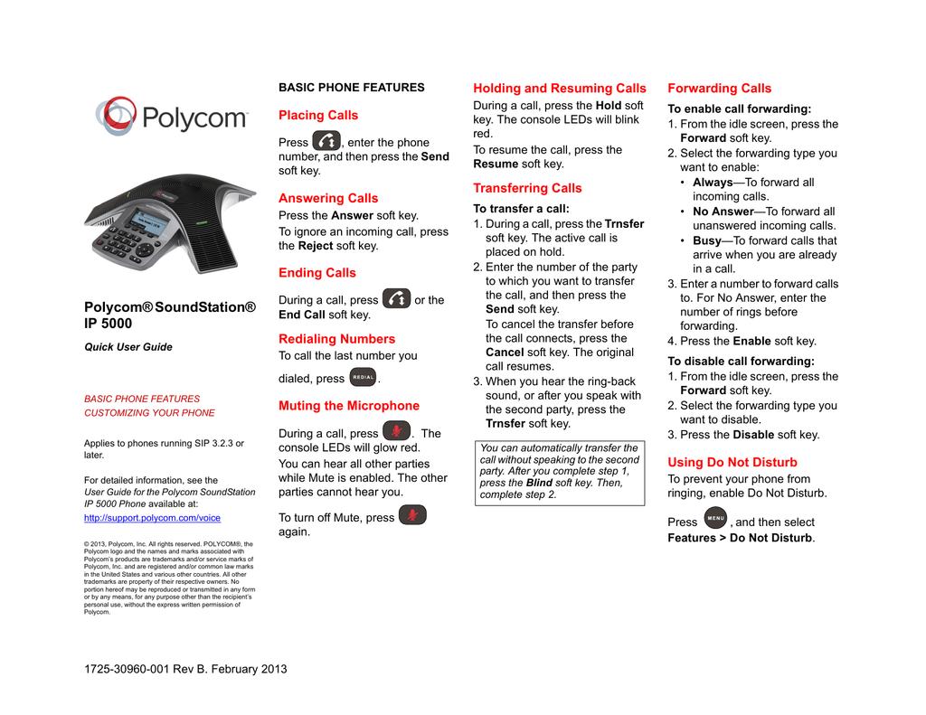 polycom soundstation ip 5000 quick user guide manualzz com rh manualzz com Polycom SoundStation IP 6000 Polycom SoundStation IP 7000