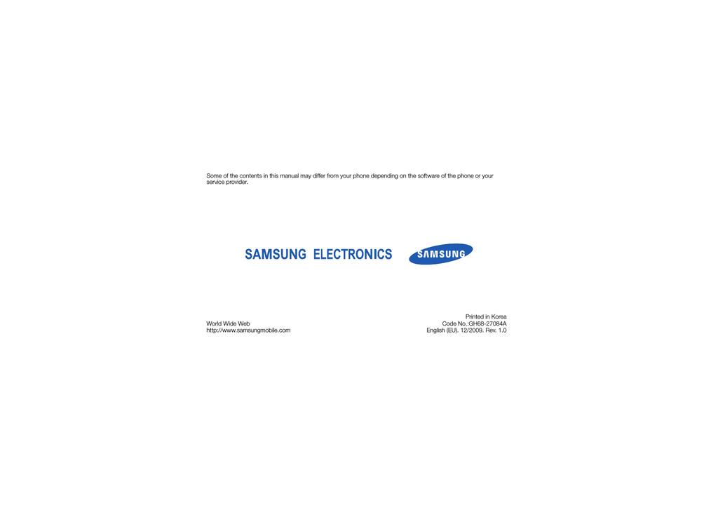 samsung gt s5150 user manual manualzz com rh manualzz com Samsung Rugby Samsung Refrigerator Manual
