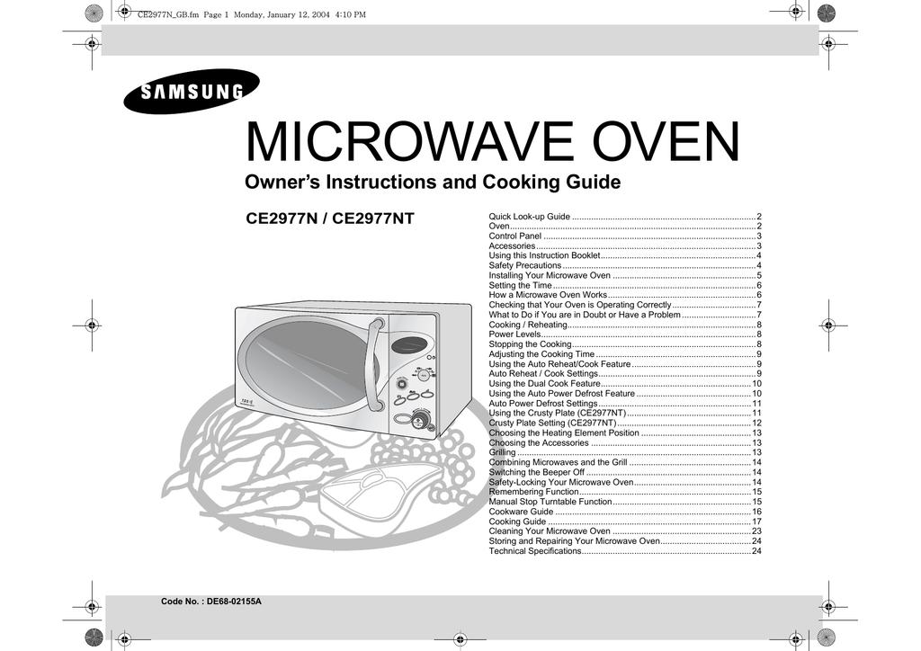 Samsung Ce2977n User Manual Manualzz
