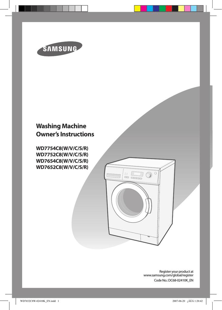 Samsung WD7652C8W User manual | manualzz com