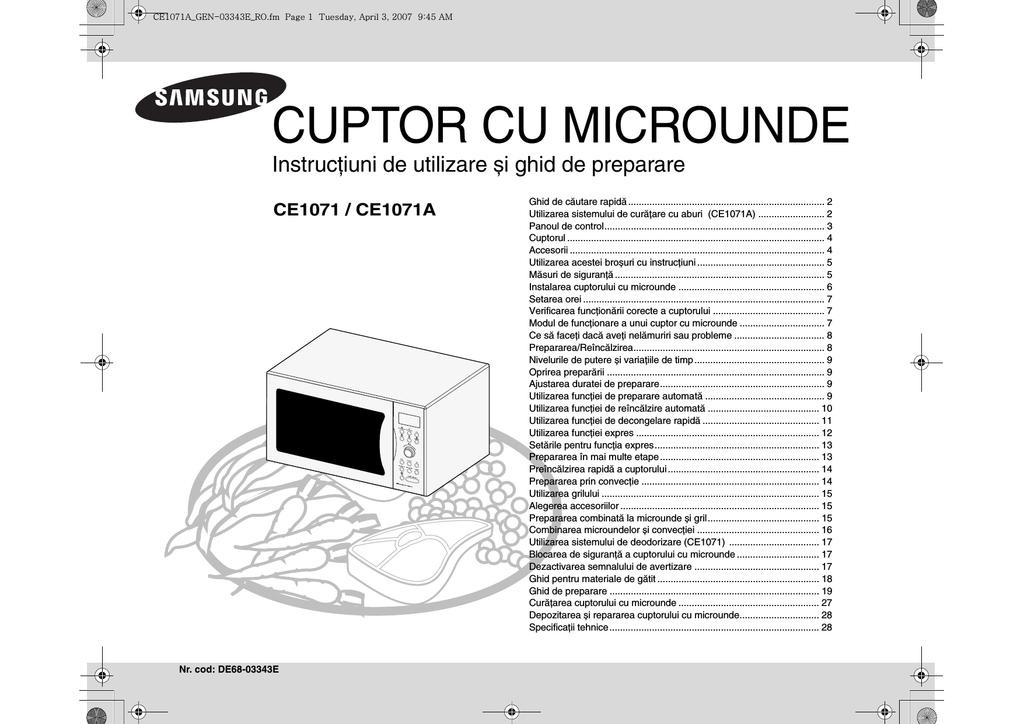 Verwonderlijk Samsung CE1071 Manual de utilizare | manualzz.com YG-86