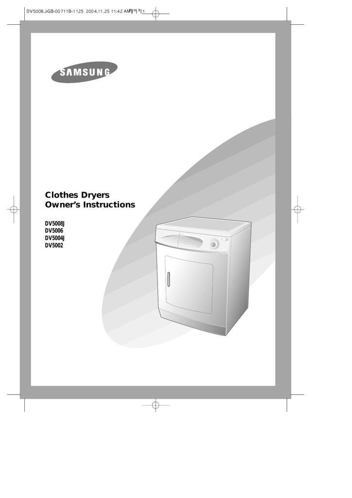 Samsung DV5008J User manual   manualzz com