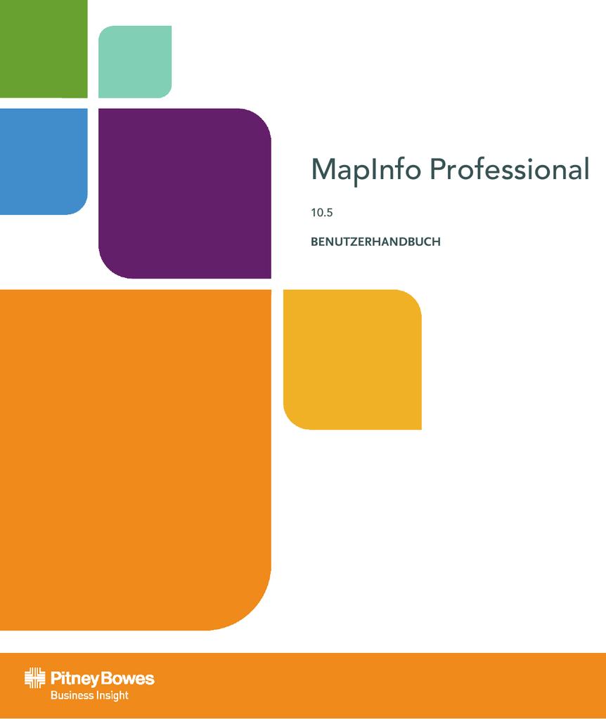 MapInfo Professional 10.5 User Manual   manualzz.com
