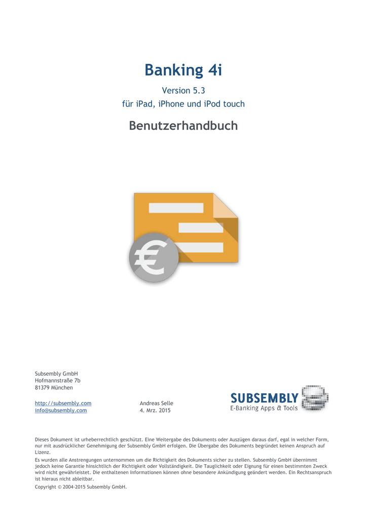 Handbuch zu Banking 4i | manualzz.com