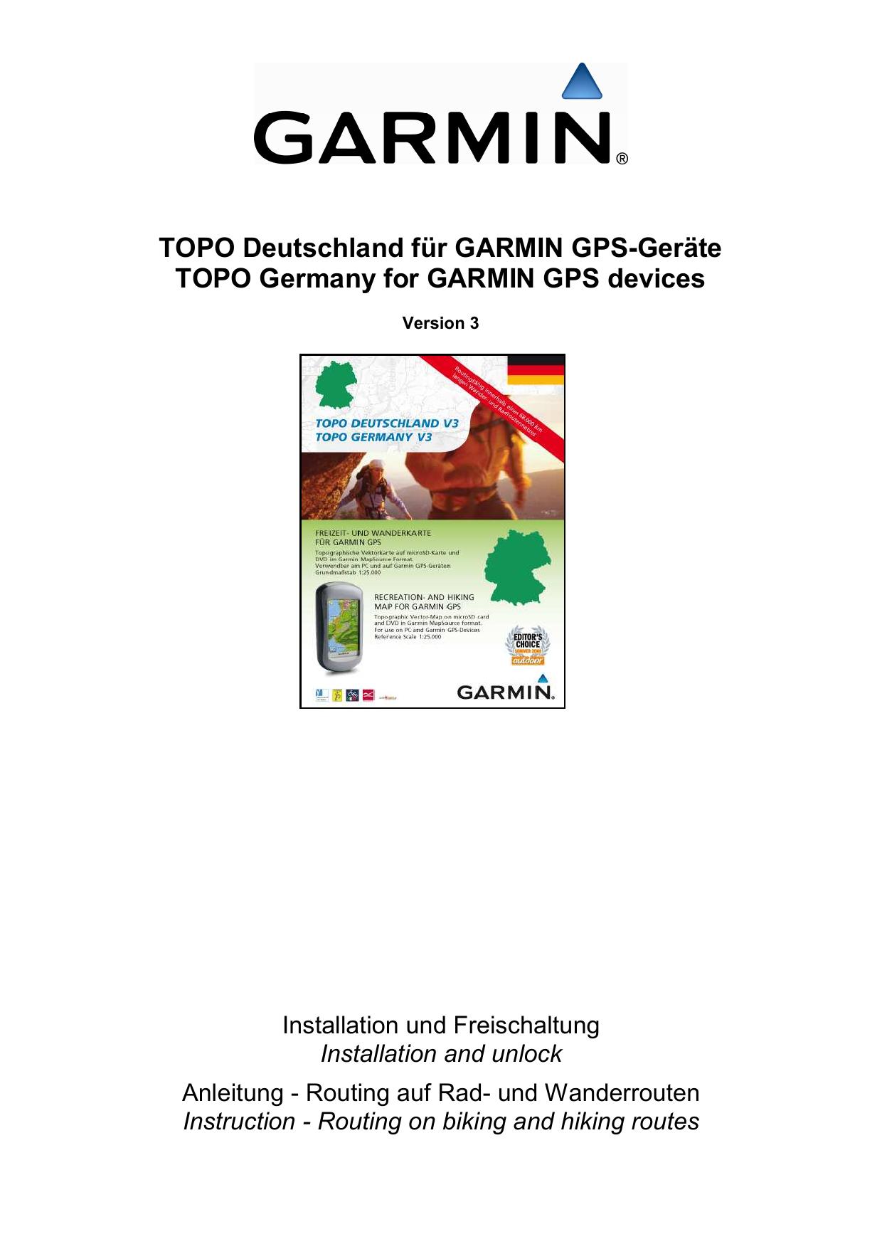 TOPO Deutschland für GARMIN GPS | manualzz com