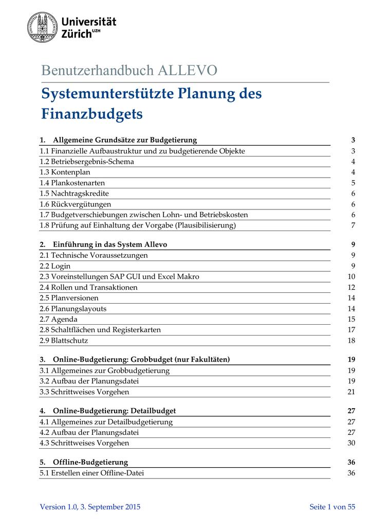 2. Einführung in das System Allevo | manualzz.com