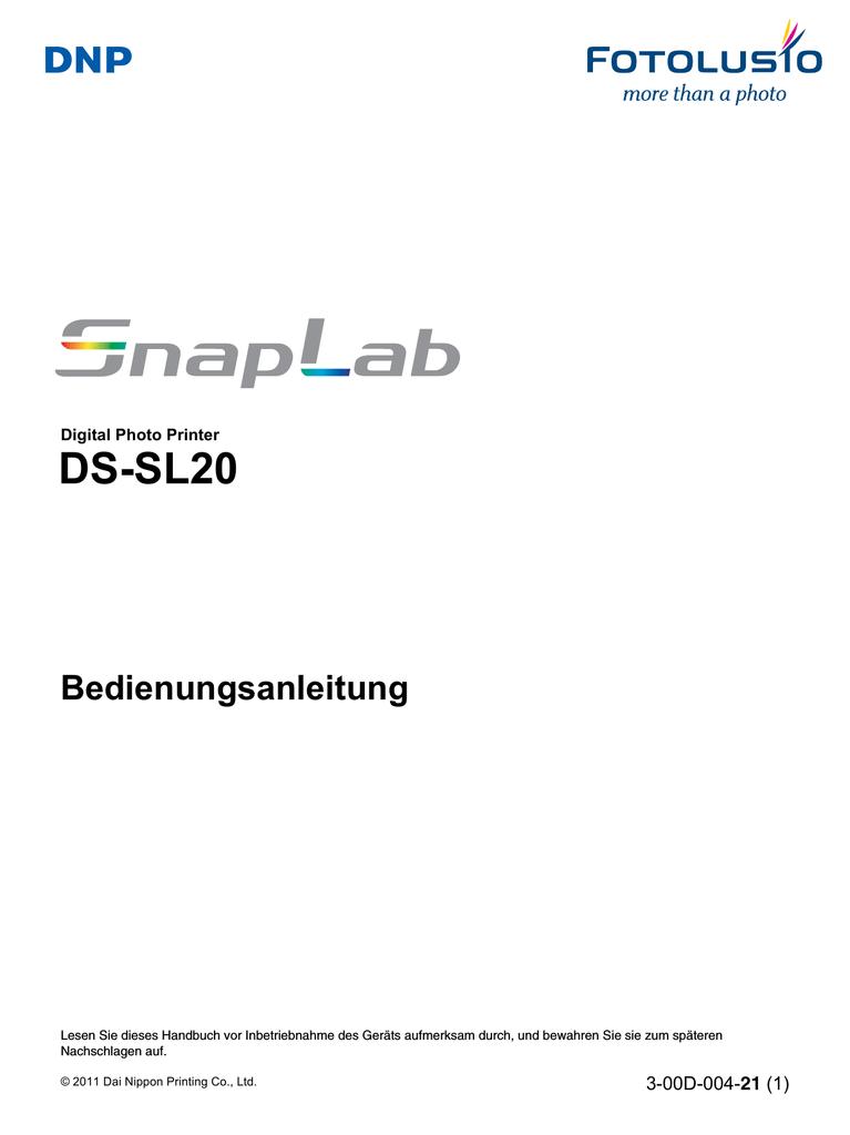 DS-SL20 Bedienungsanleitung | manualzz.com