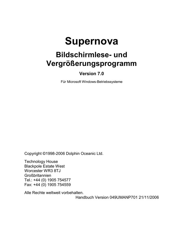 Supernova - Dolphin Computer Access   manualzz.com