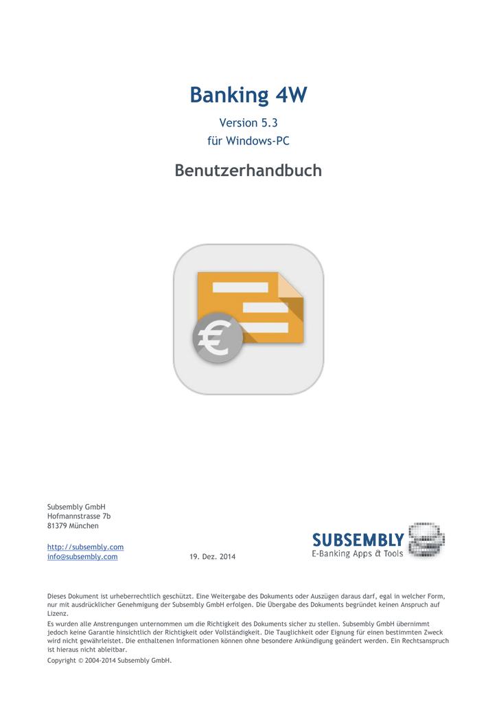Banking 4W - Subsembly GmbH | manualzz.com