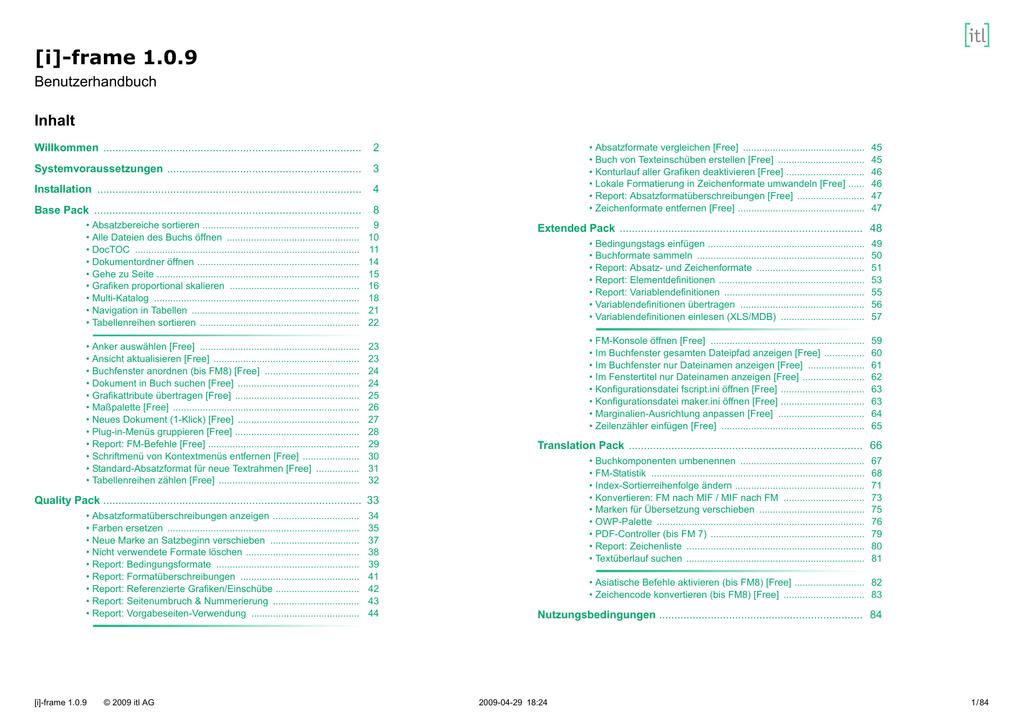 frame DE, Seiten 17-33 | manualzz.com