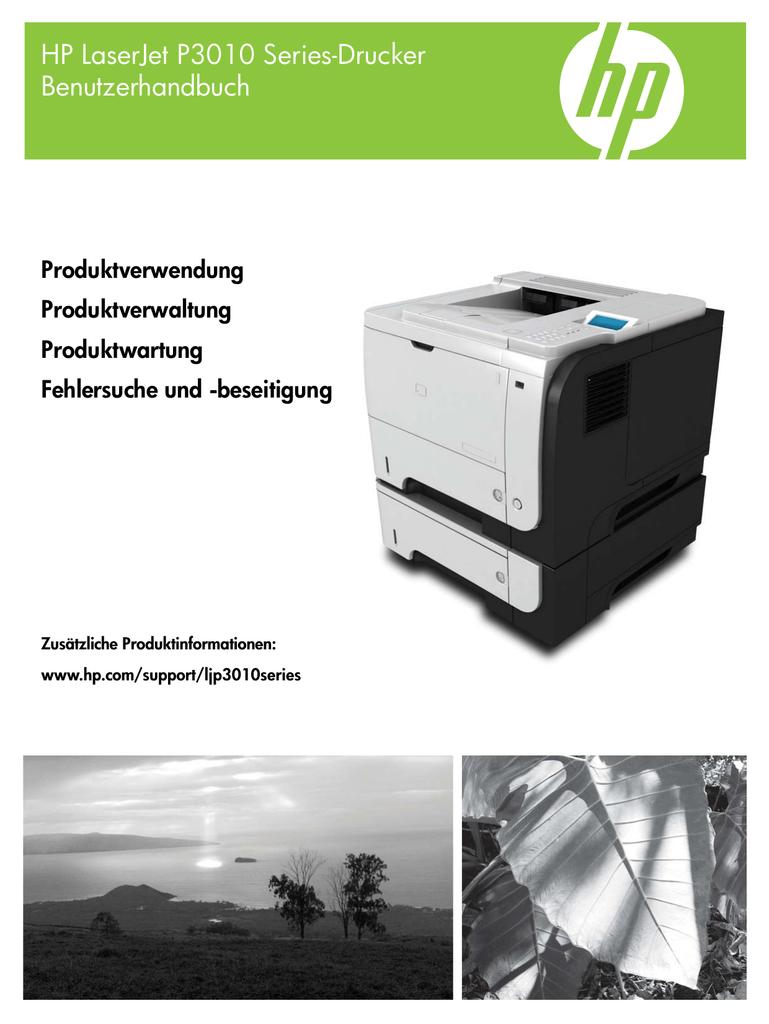 HP LaserJet P3010 Series-Drucker - designjet | manualzz.com