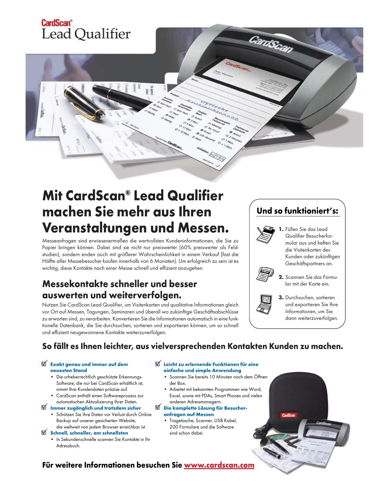 Mit Cardscan Lead Qualifier Machen Sie Mehr Aus Ihren