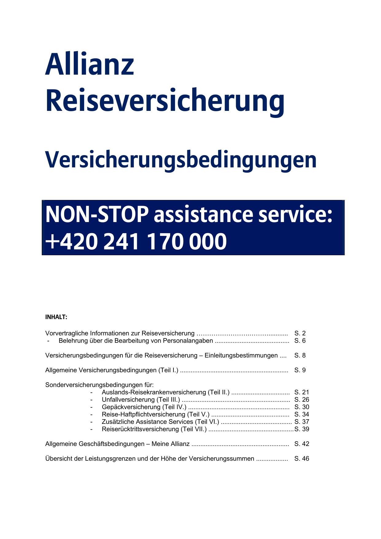 sonderversicherungsbedingungen | manualzz.com