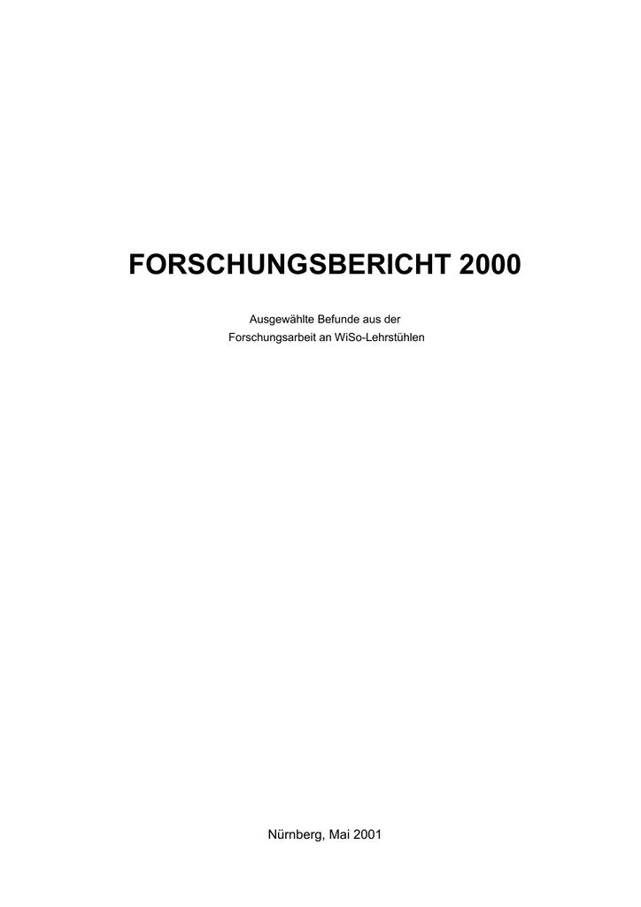 forschungsbericht 2000 - Friedrich-Alexander | manualzz.com