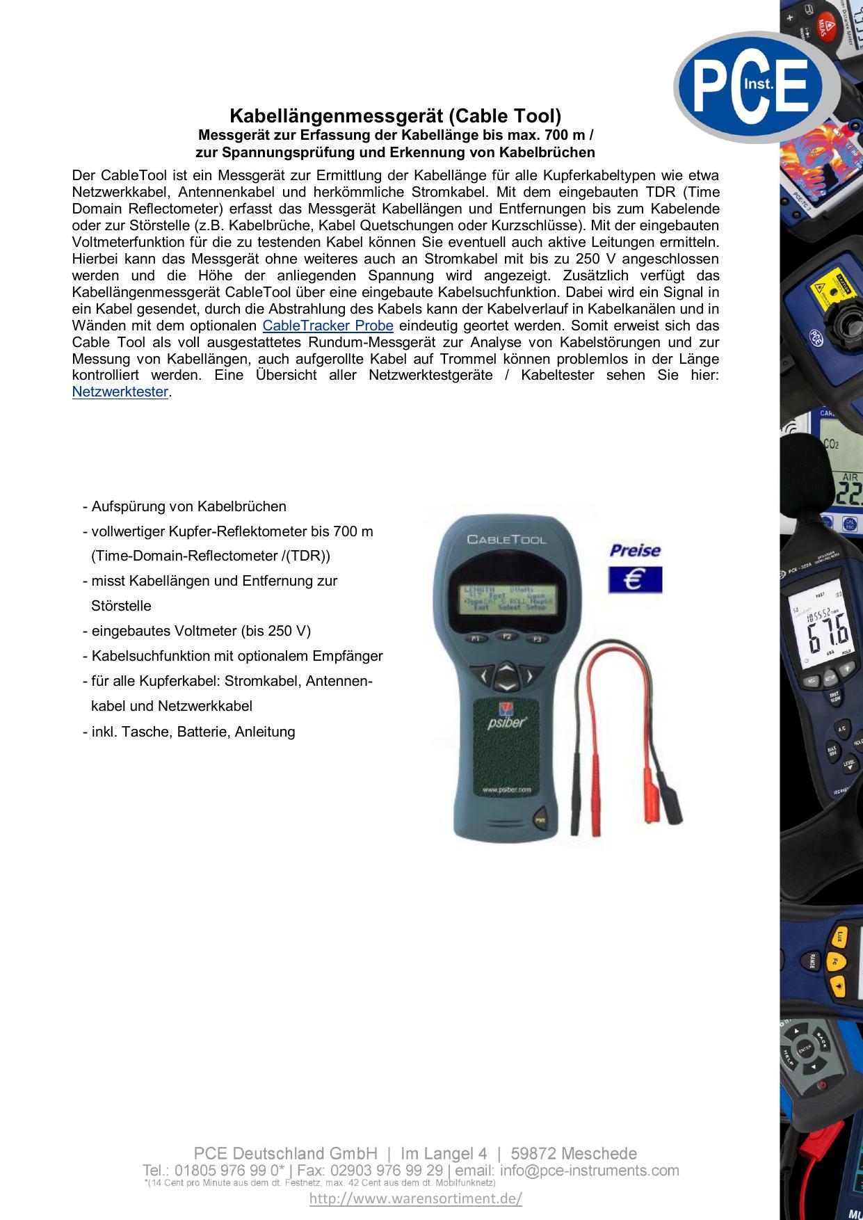Kabellängenmessgerät (Cable Tool)