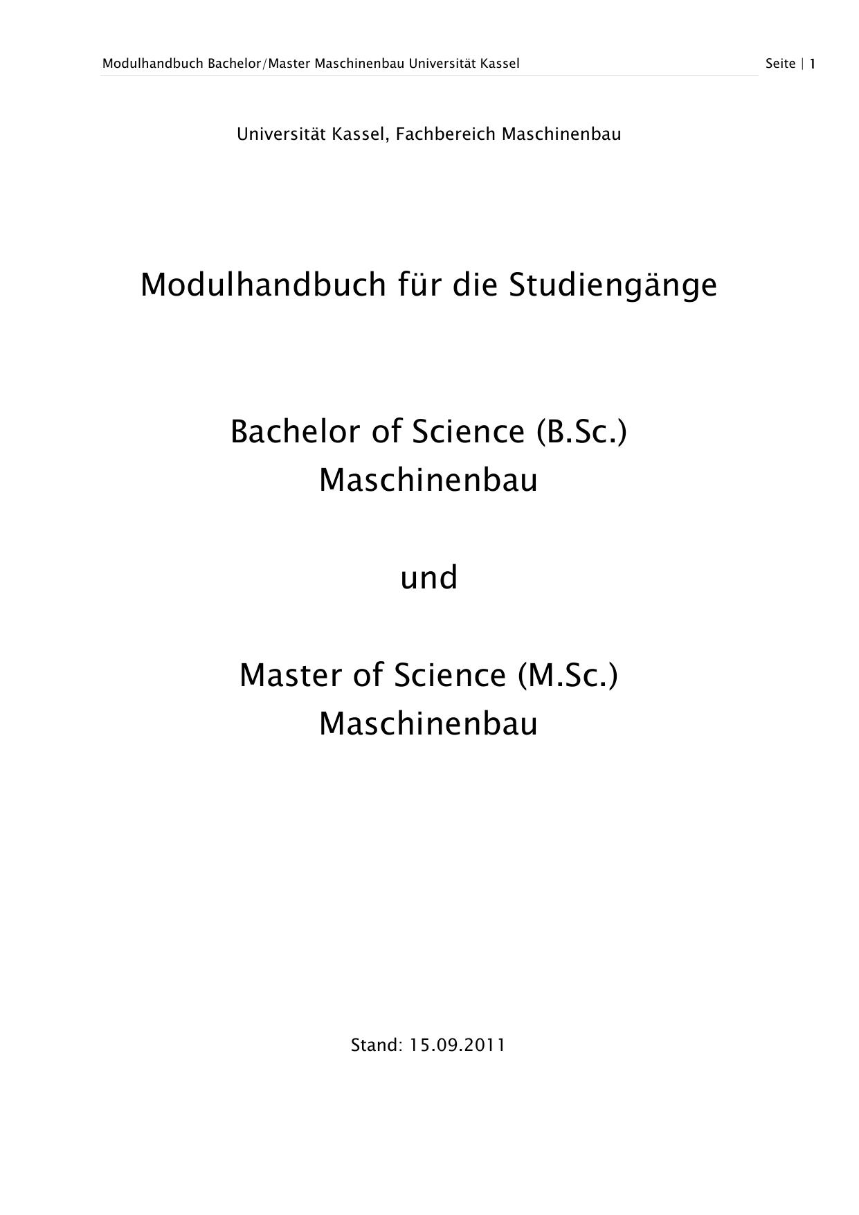 Maschinenbau - Universität Kassel | manualzz.com