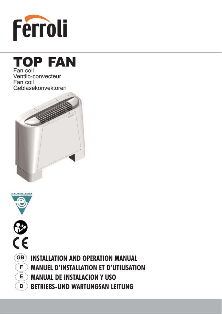 Ventilconvettore TOP FAN VM-B 15 Ferroli