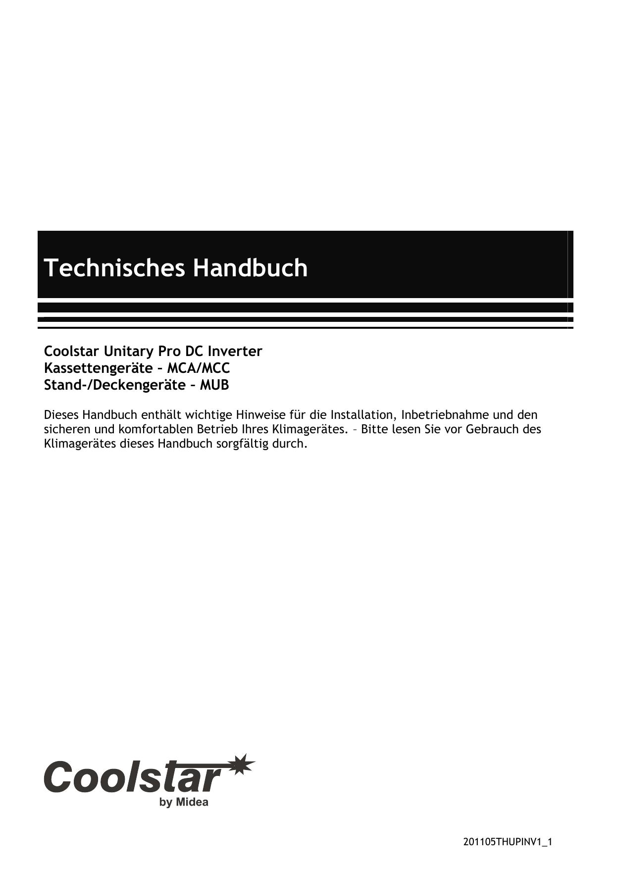 Technisches Handbuch Coolstar Unitary Pro-Inverter | manualzz.com