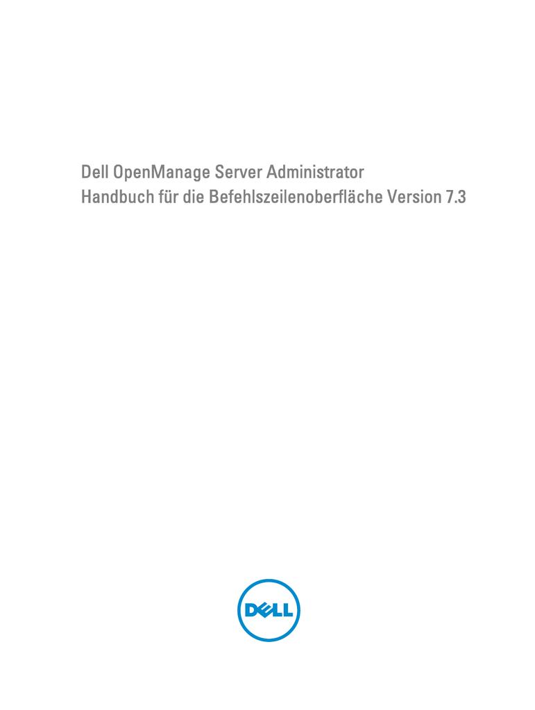 Dell OpenManage Server Administrator Handbuch für die | manualzz.com