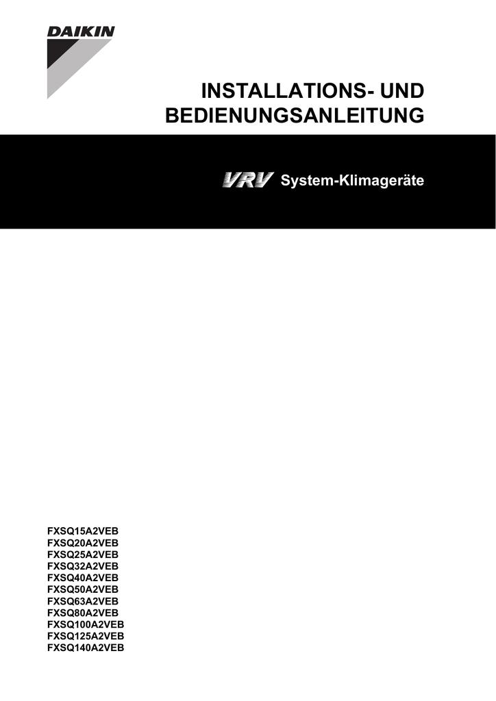 INSTALLATIONS- UND BEDIENUNGSANLEITUNG | manualzz.com