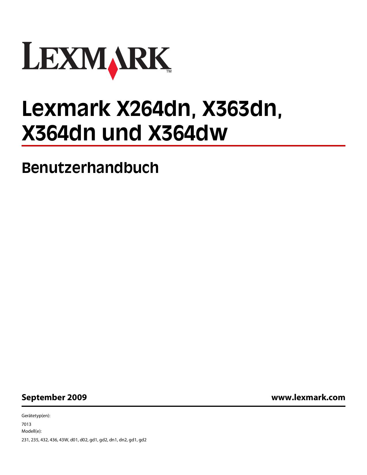 Lexmark X264dn X363dn X364dn und X364dw