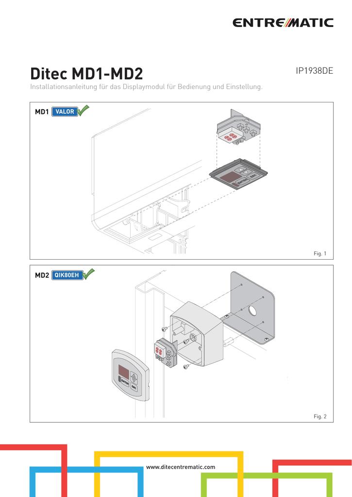 Ditec MD1-MD2 | manualzz.com