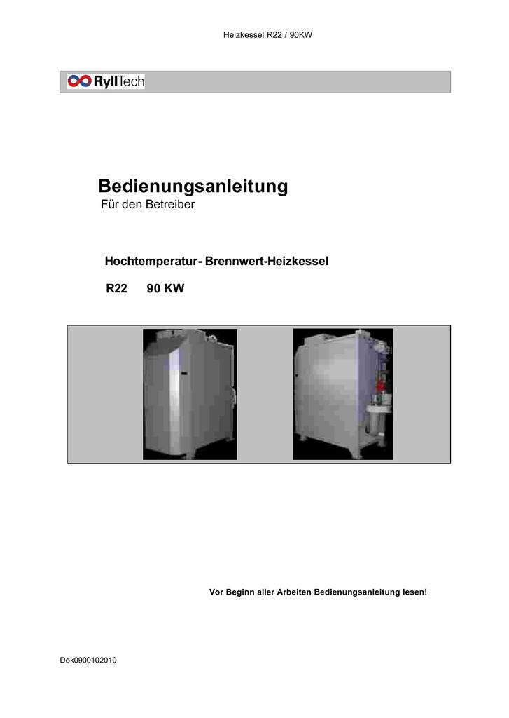 Bedienungsanleitung - Wartung u. Service f. Ryll Heizkessel