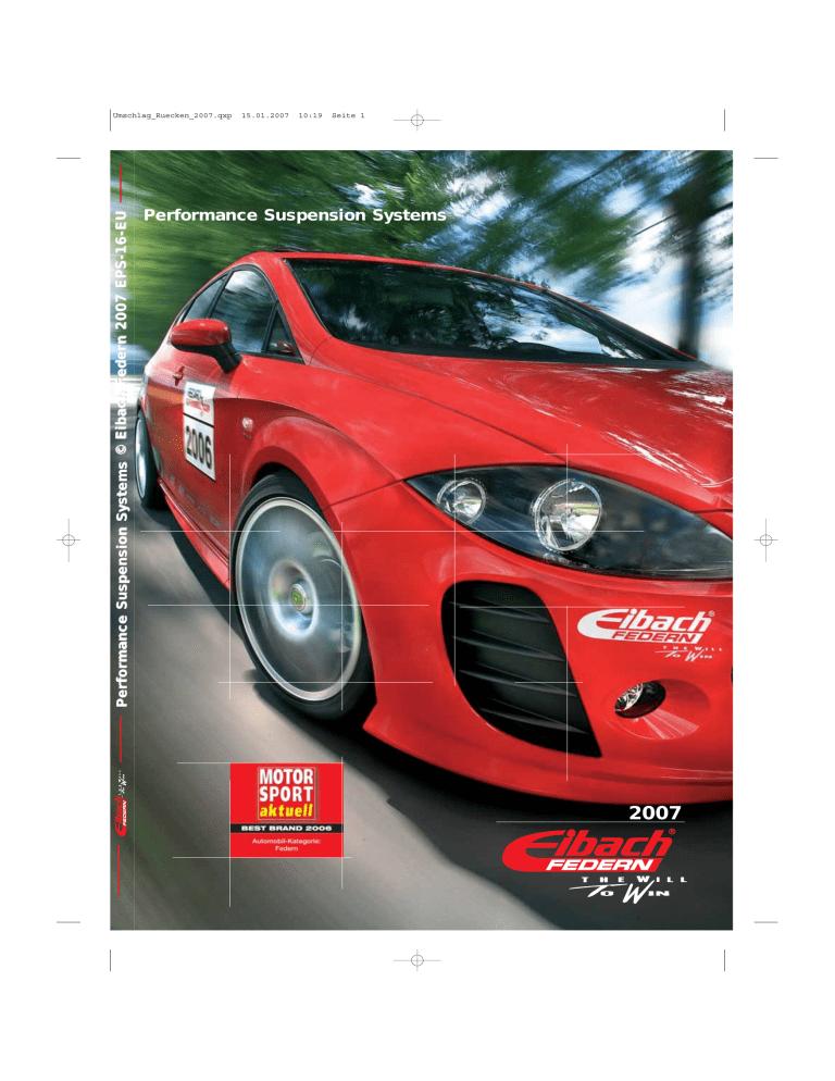 Eibach E20-20-014-03-22 Performance Sportline Springs