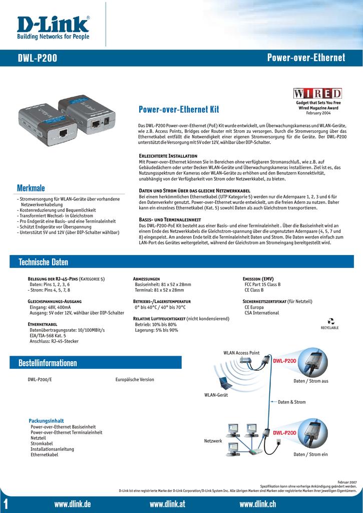Power Over Ethernet Dwl P200 D Link Manualzz Com