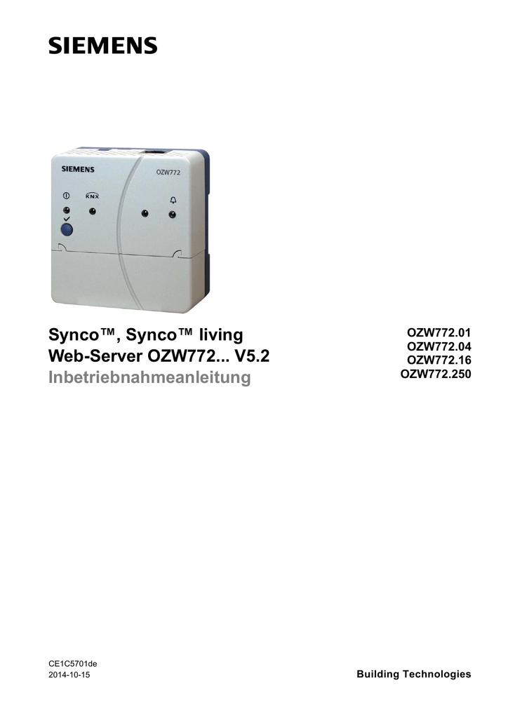 Web-Server OZW772... V5.2 | manualzz.com