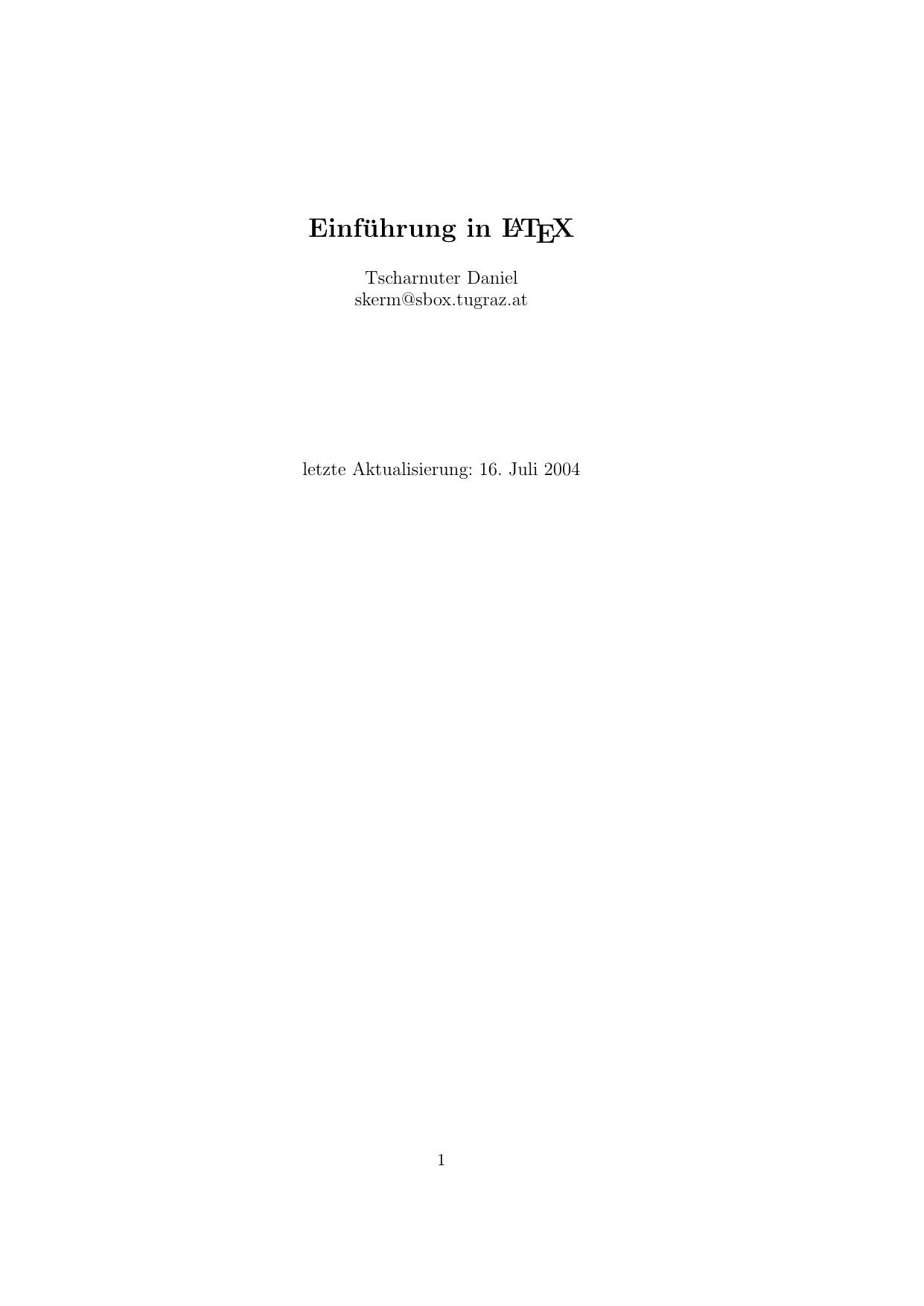 Einfuhrung In Latex Manualzz Com